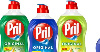 Pril-Flaschen mit neuer Altplastik-Verpackung