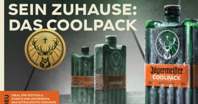 Jägermeister hat das Coolpack als eine neue Verpackung