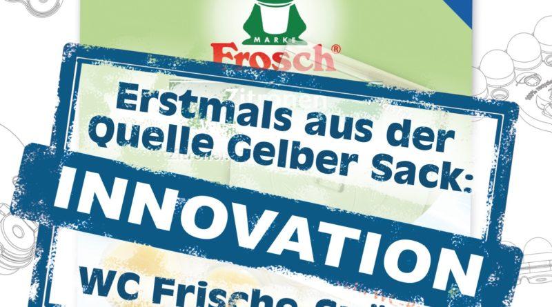 wc-frische-spueler: Zurzeit bestehen die WC-Frische-Spüler von Werner & Mertz aus 100 Prozent Altplastik aus PET-Flaschen. Aber nun stellt das Reinigungsmittelunternehmen auch auf recycelte PET-Schalen um