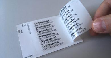 Auszeichnung für mehrlagiges Info-Etikett