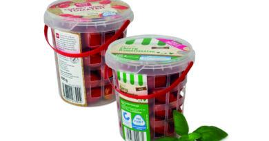 Der Gittereimer für Tomaten hat weniger Plastikanteil