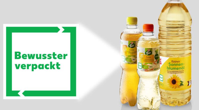 """Kaufland-Logo """"Bewusster verpackt"""""""