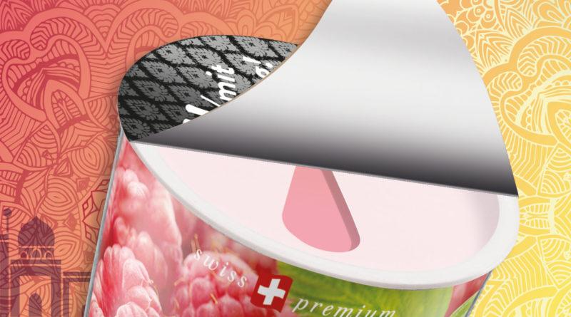 Neuer Trinkbecher der molkerei Biedermann für Lassi-Getränke