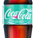 Coca-Cola bottles made from sea plastic