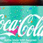 Coca-Cola-Flaschen aus Meeresplastik
