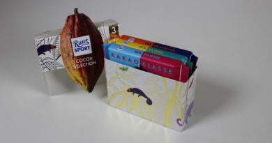 New packaging for Ritter Sport Cocoa Selection