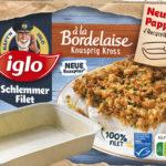 Iglo serves Gourmet Fillet in a cardboard bowl