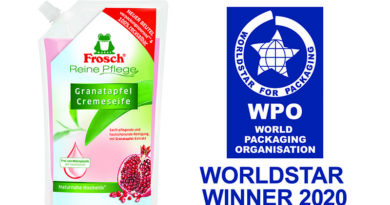 Frosch gewinnt den WorldStar Packaging Award 2020
