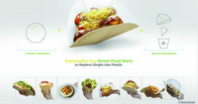 Verpackung von Expandalbe Eco Street Food gewinnt Metsä Design Award