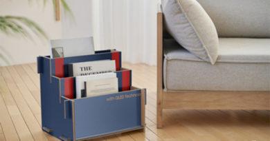 Verpackung von Samsung als Möbel nutzen