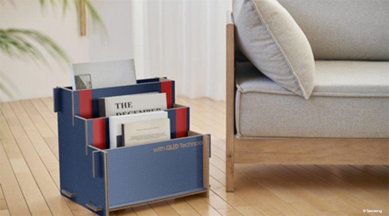 Using Samsung packaging as furniture