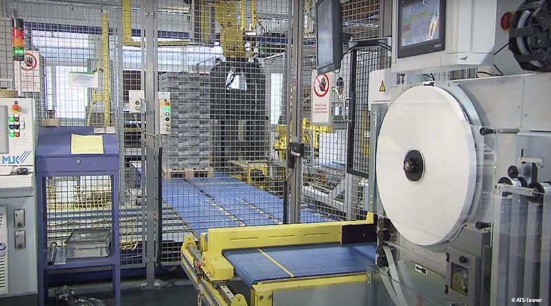 Vollautomatische Banderoliermaschine von ATS Tanner