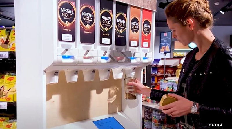 Nestle tests unpackaged with coffee and pet food
