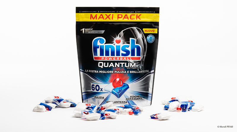 Reckitt Benckiser uses recyclable plastic for Finish Quantum