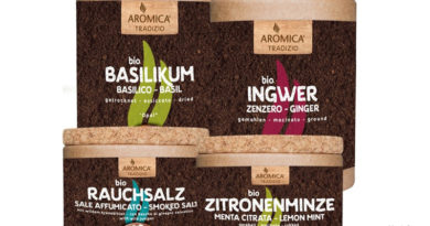 Rupperti Gewürze rely on cork and cardboard packaging