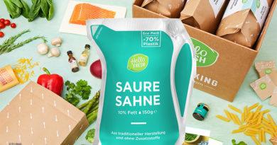 HelloFresh liefert Lebensmittel in neuer Leichtverpackung