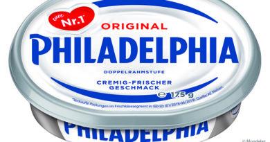 Mondelez stellt Verpackung von Philadelphia auf recycelten Kunststoff um