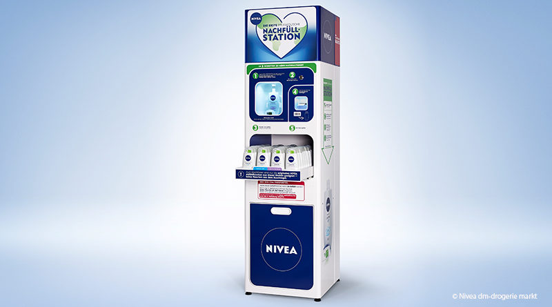 dm and NIvea start pilot project with refill station for shower gel