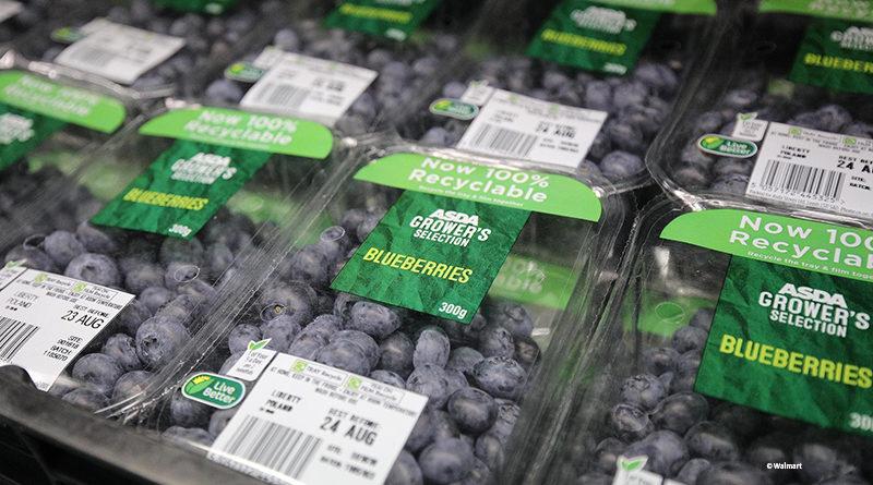 Asda bietet recyclebare Schalen für Beeren