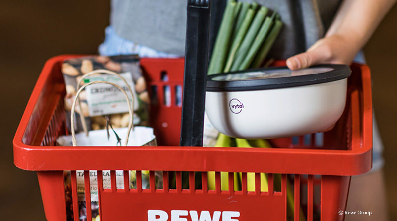 Reusable at the salad counter at Rewe