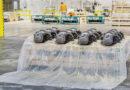 Skoda verpackt Autoteile in abbaubare Folie