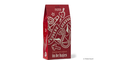 Markante Kaffee-Verpackung