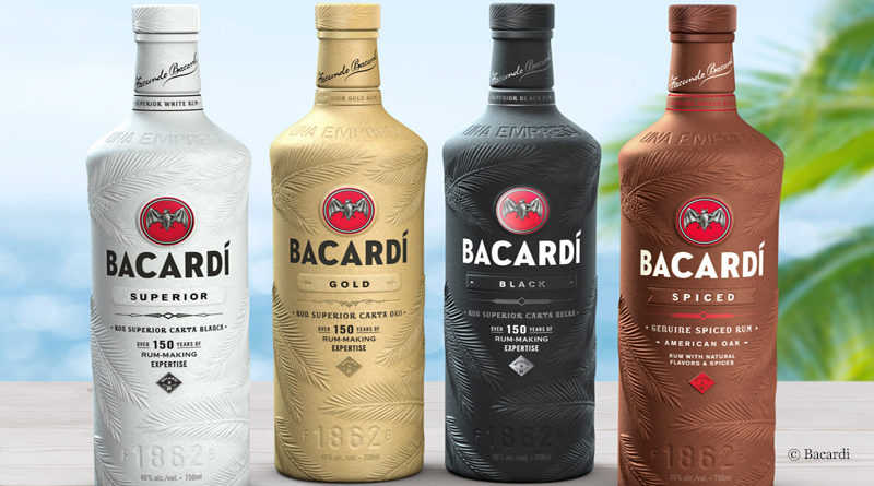 Paper bottle from Bacardi