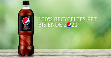Flaschen aus rPET bei Pepsi