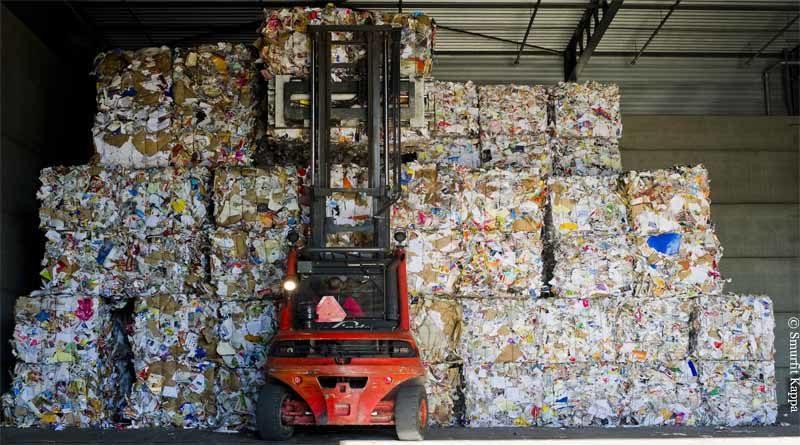 Recycling von Altpapier
