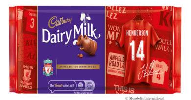 Individualisierte Cadbury-Schokolade für FC Liverpool