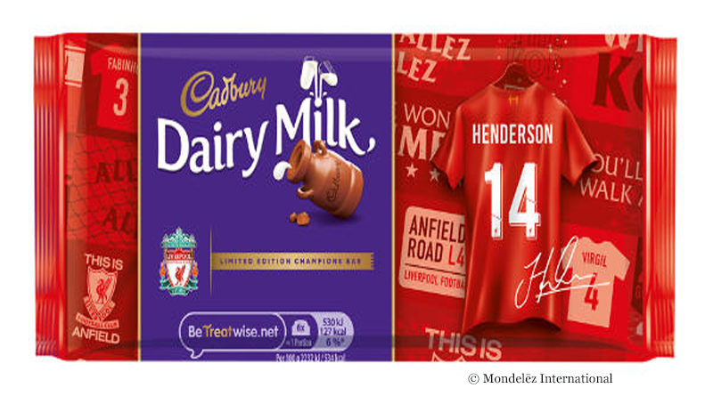 Individualized Cadbury chocolate for Liverpool FC