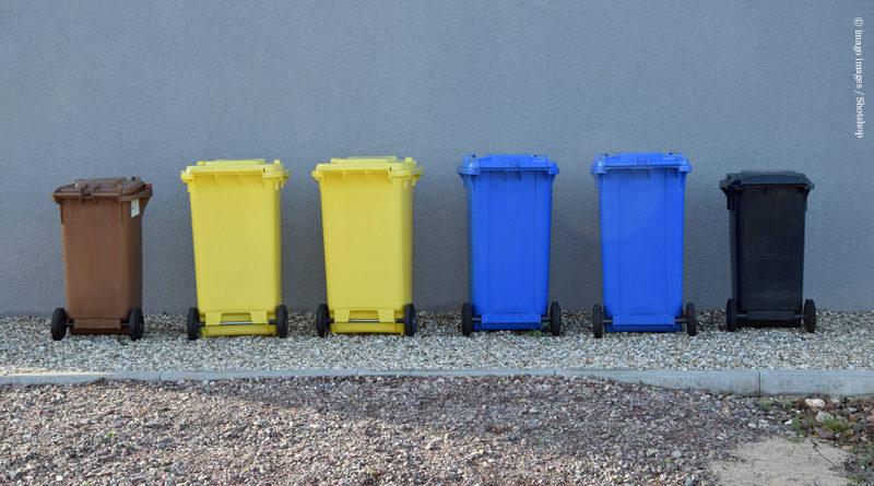 Mülltrennung für das Recycling