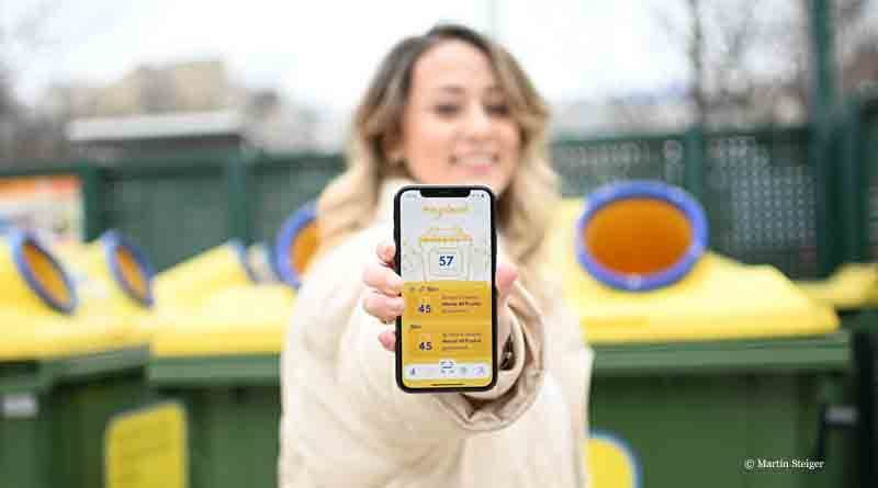 RecycleMich app in Austria