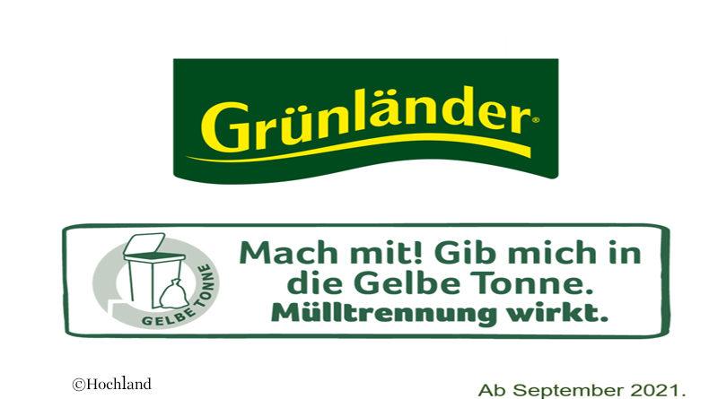 Gruenlaender new packaging logo