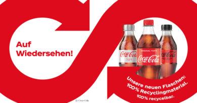 Coca-Cola in rpet-bottles