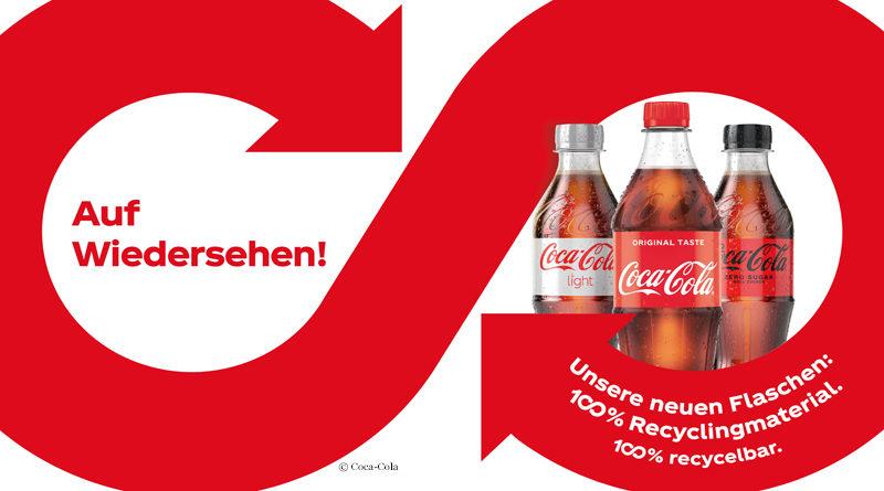 Coca-Cola in Flaschen aus 100 Prozent rPET
